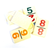4pc Vintage Rummy Tiles