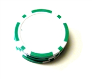 1pc plain poker chip base green