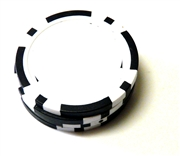 1pc plain poker chip base black