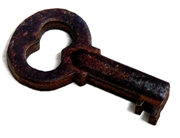1pc woodcut Key Charm 34x20mm #3
