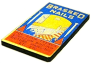 1pc woodcut packet brassed nails