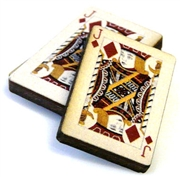 1pc woodcut playing cards jack of diamonds 29x20mm