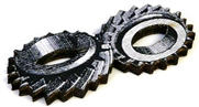 1pc woodcut gears 50x20mm