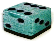 1pc woodcut dice teal 30mm