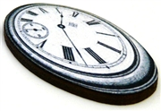 1pc woodcut melting clock 5a