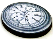 1pc woodcut melting clock 17a