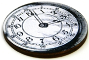 1pc woodcut melting clock 2a