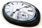 1pc woodcut melting clock 3a