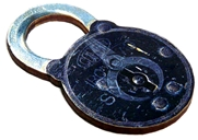 1pc Woodcut Large Lock 66x44mm