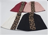 Fabric Leopard Striped Beanies
