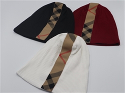 Burberry Inspired Striped Beanies
