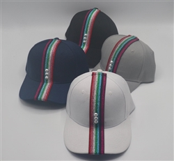 Multi Color Ribbon Baseball Caps