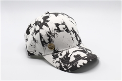 Black and White Tie Dye Baseball Cap