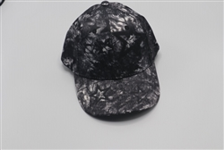 Black and White Satin Baseball Cap