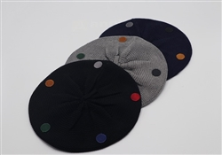Cotton Multicolor Polka Dot Barrett