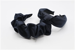 Dark Navy Silk Headband