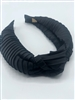 Silk Black Pleated Headband