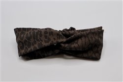 Brown Leopard Turban Headband