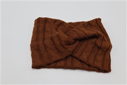 Dark Rust Turban Headband