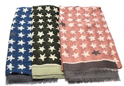 Star Printed Scarves