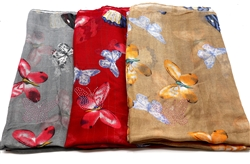 Butterfly Printed Scarves