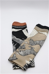 Zebra Print Headscarves