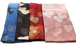 Heart Printed Scarves