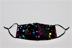 Velvet Mask with Colored Squares