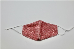 Pink Velvet Mask with Sequins