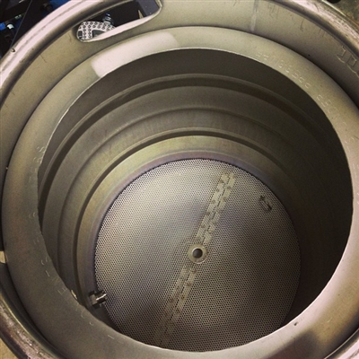 how to cut a hole in a beer keg