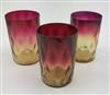 Three Amberina Tumblers