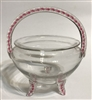 Bohemian Glass Basket
