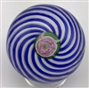 Clichy Blue & White Swirl with Rose cane