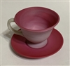 Gundersen Peach Blow Cup and Saucer