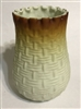 Webb Satin Glass Basket Weave Vase