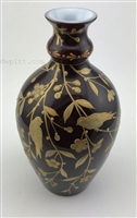 Webb Gold Enameled Vase