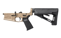 AERO PRECISION M5 (.308) COMPLETE LOWER RECEIVER W/ MOE GRIP & STR CARBINE STOCK - FDE