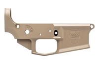 AERO PRECISION M4E1 STRIPPED LOWER RECEIVER  - FDE CERAKOTE SPECIAL EDITION LIBERTY