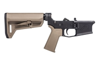 AERO PRECISION M4E1 COMPLETE LOWER RECEIVER W/MOE SL GRIP & SL-K  CARBINE STOCK - FDE FURNITURE