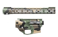 "AERO PRECISION M4E1 BUILDER SET M81 WOODLAND CAMO BUILDER SET W/ ATLAS S-ONE 15"" MLOK RAIL"