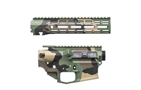 "AERO PRECISION M4E1 BUILDER SET M81 WOODLAND CAMO BUILDER SET W/ ATLAS R-ONE 9"" MLOK RAIL"