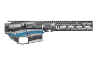 "AERO PRECISION M4E1 BUILDER SET THIN BLUE LINE BUILDER SET W/ ATLAS R-ONE 9"" MLOK RAIL"