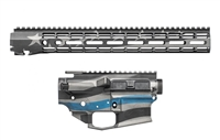 "AERO PRECISION M4E1 BUILDER SET THIN BLUE LINE BUILDER SET W/ ATLAS R-ONE 15"" MLOK RAIL"