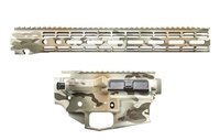 "AERO PRECISION M4E1 BUILDER SET DESERT ARID CAMO BUILDER SET W/ ATLAS R-ONE 15"" MLOK RAIL"