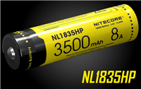 NITECORE NL1835HP 3500MAH 18650 LI-ION RECHARGEABLE BATTERY