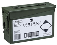 FEDERAL XM193 5.56X45MM 55 GRAIN FMJ BALL - 420 ROUNDS ON STRIPPER CLIPS