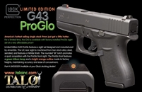 GLOCK 43 TALO EXCLUSIVE PROGLO NIGHT SIGHTS