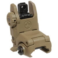 MAGPUL MBUS REAR FOLDING BACKUP SIGHT - FLAT DARK EARTH