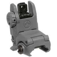 MAGPUL MBUS REAR FOLDING BACKUP SIGHT - STEALTH GREY
