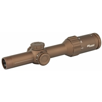 SIG SAUER TANGO6T RIFLE SCOPE 1-6X24MM 30MM FFP 762 SDMR EXTENDED RANGE RETICLE 0.2 MRAD CAPPED TURRENT FDE FINISH